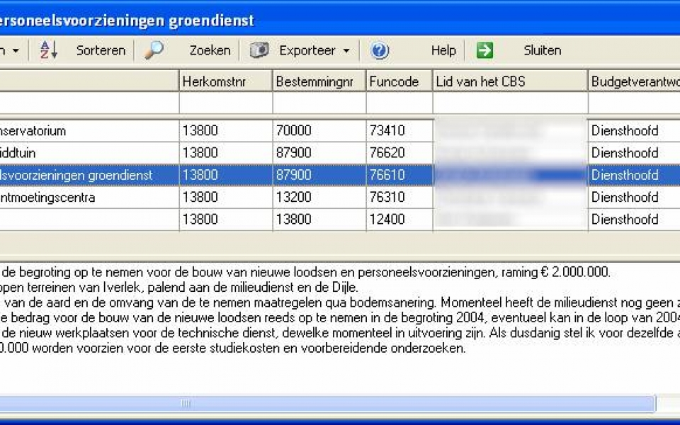 Investeringsplan – projectgegevens