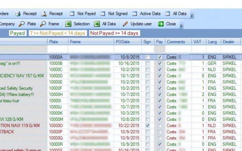 Wagenparkbeheer - aanmaken purchase orders en invoices